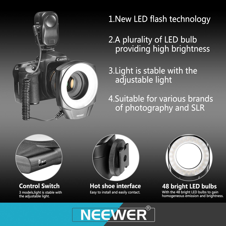 Macro Ring Flash Led Light For Canon Nikon Sigma Lens With