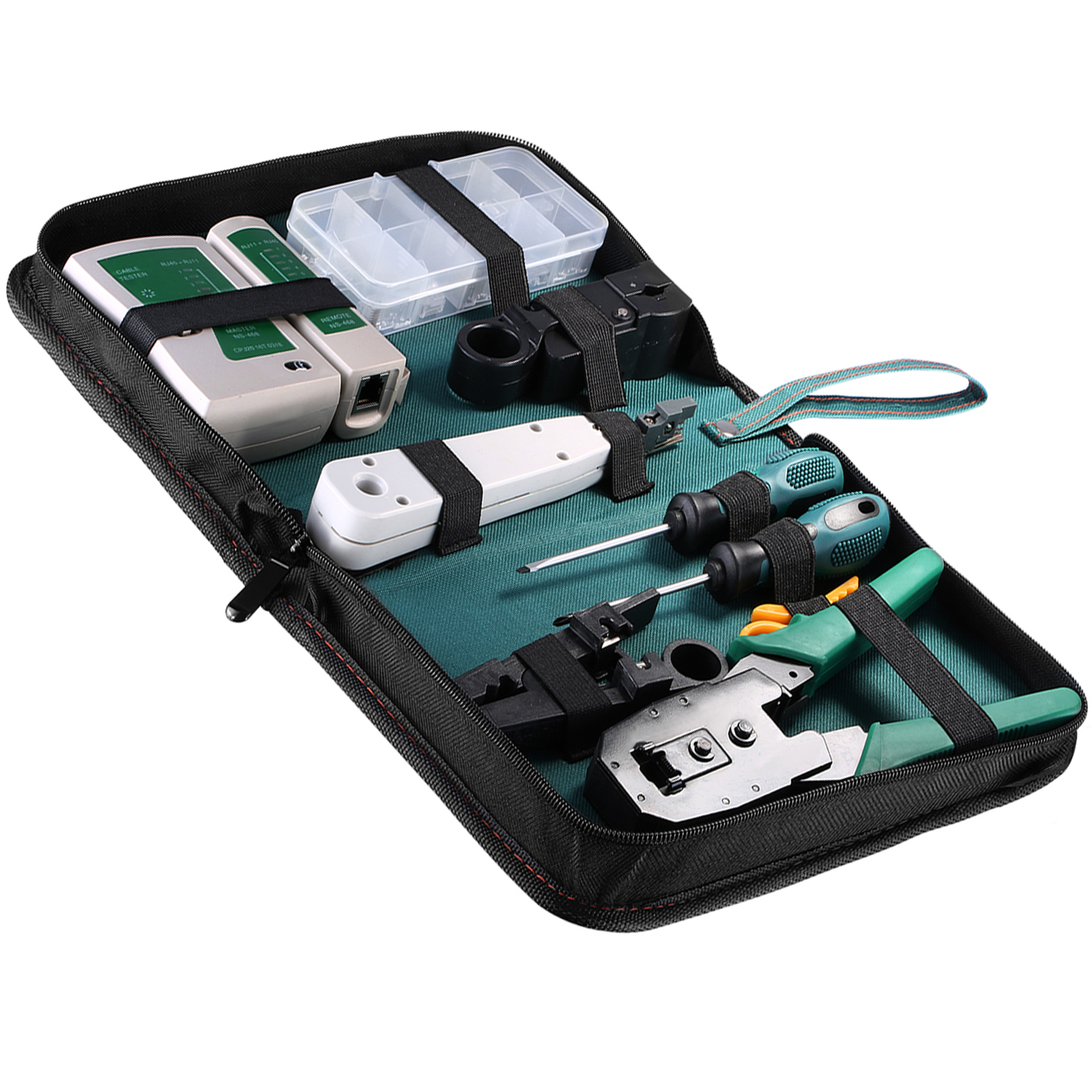 Cat 5 Cable Tester Kit : Internet network cable tester wire crimp lan rj
