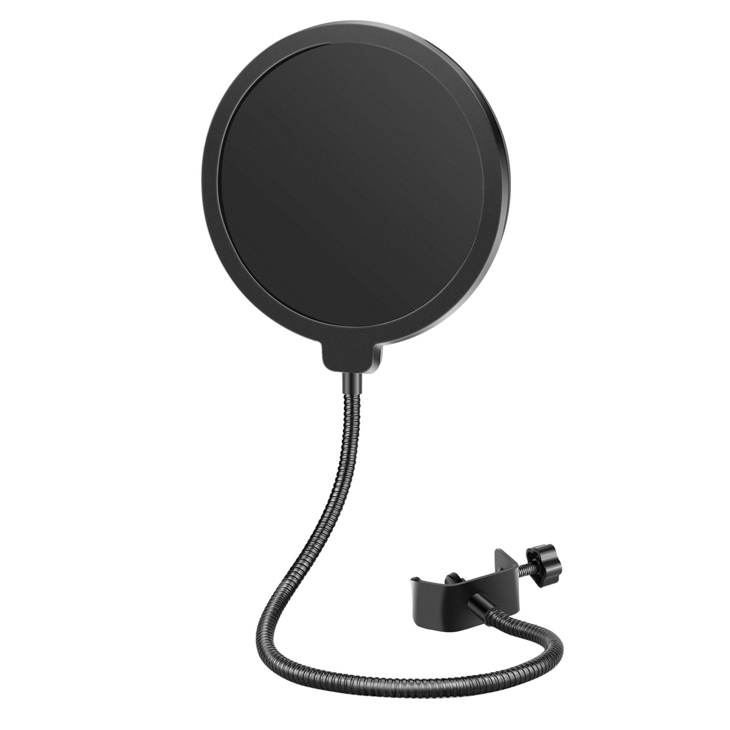 neewer black round 6 39 39 studio mic wind screen microphone pop filter mask shield. Black Bedroom Furniture Sets. Home Design Ideas