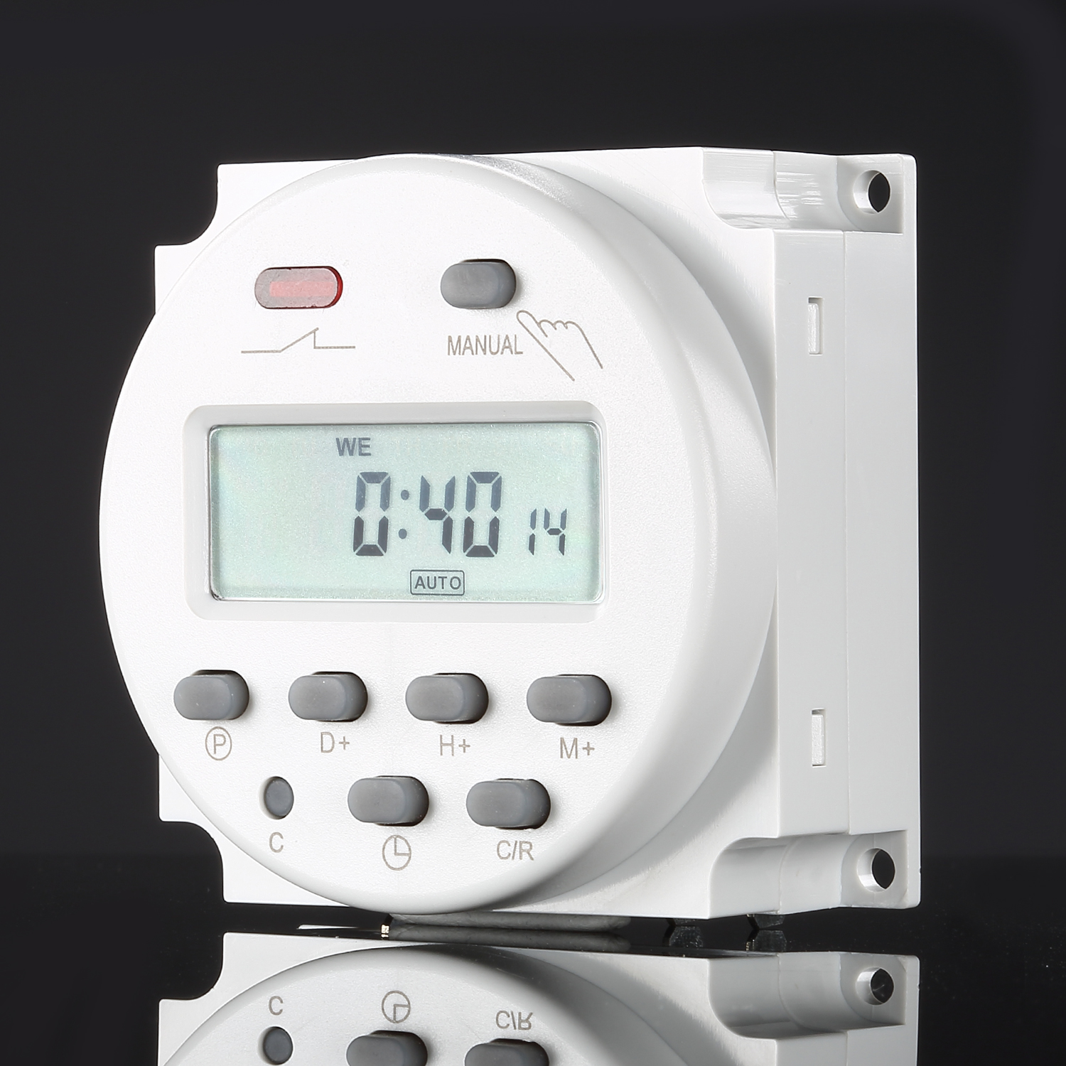 Digital Power Timer : Lcd display digital power programmable timer ac v time