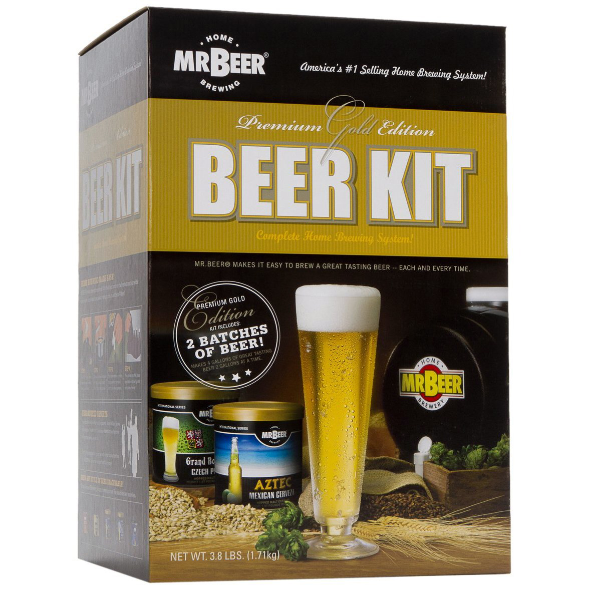 mr beer premium gold edition home brew kit new ebay