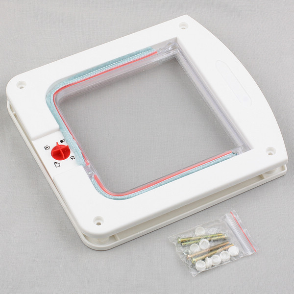 Plastic lockable locking flap safe door tunnel for pet cat for Dog door flap material