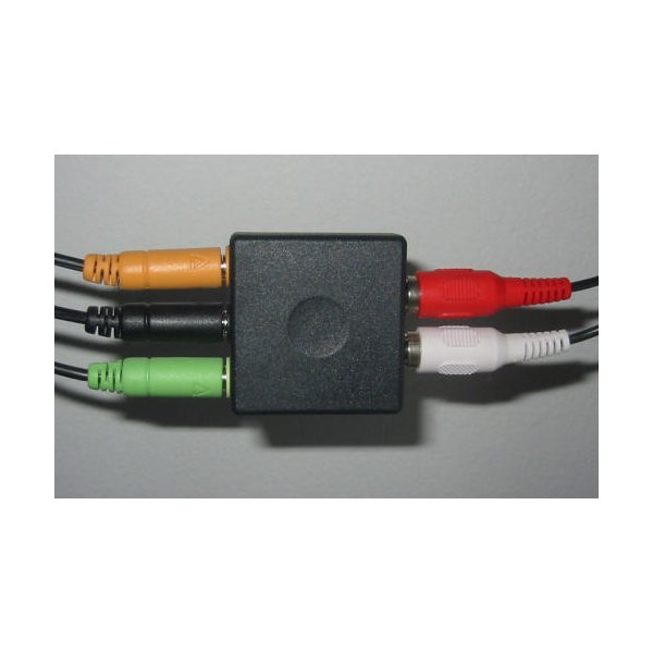 Brand NEW-Compatible Logitech-Game-Console-Audio-Adapter-5-1-Speaker-Convert-RCA