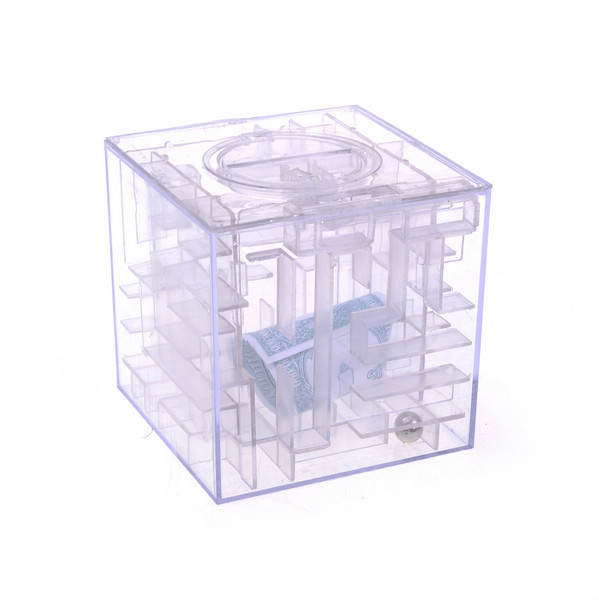 Funny money maze bank saving coin gift box 3d puzzle game for Maze coin bank